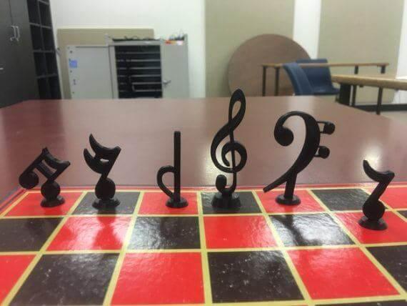 3d-modell schach musiknoten