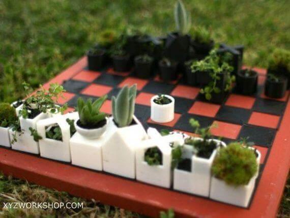 3d-modell schach pflanzen
