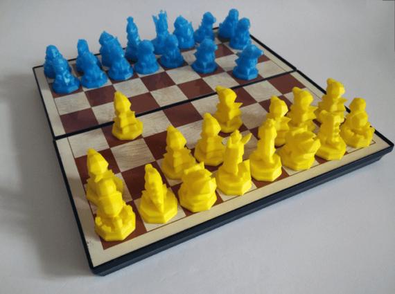 3d-modell schach pokémon