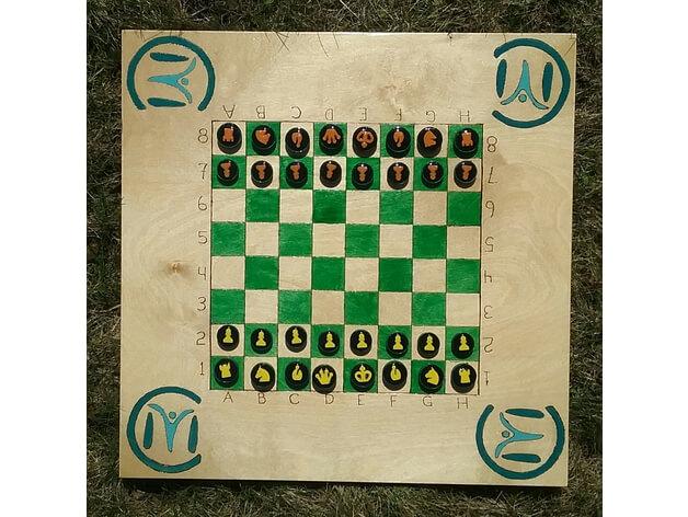 3d-modell schach spielsteine