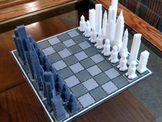 3d-modell schach wolkenkratzer