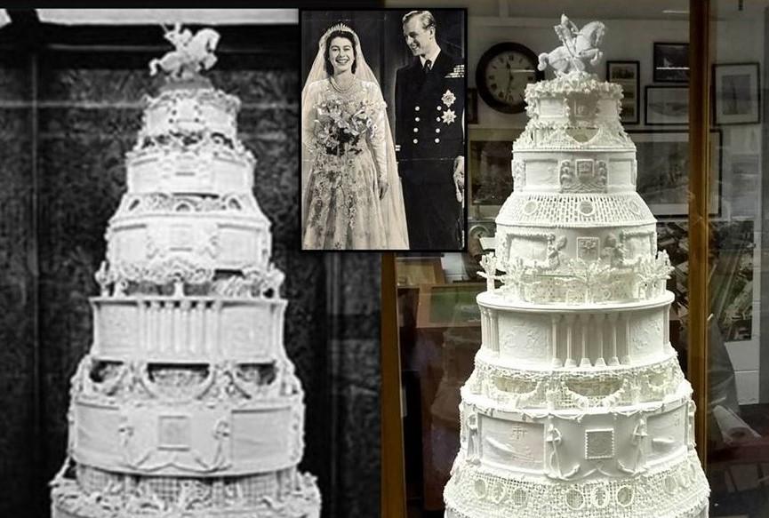 6 Stockige Hochzeitstorte Der Queen Elizabeth Ii Mit 3d Scan Und 3d