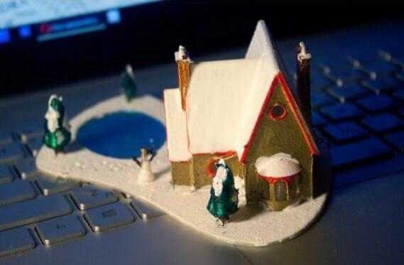 3d-model weihnachtsdeko häuschen