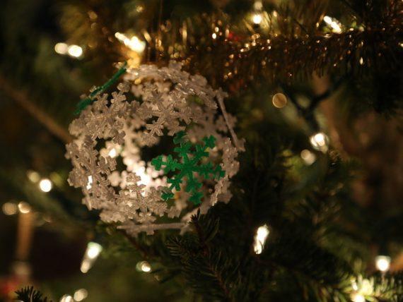 3d-modell christbaumanhänger eisblumen