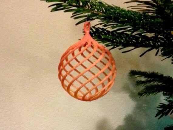 3d-modell christbaumanhänger filigran