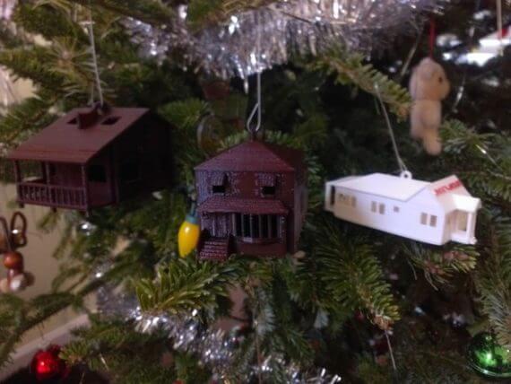 3d-modell christbaumanhänger haus