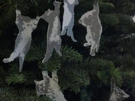 3d-modell christbaumanhänger kätzchen