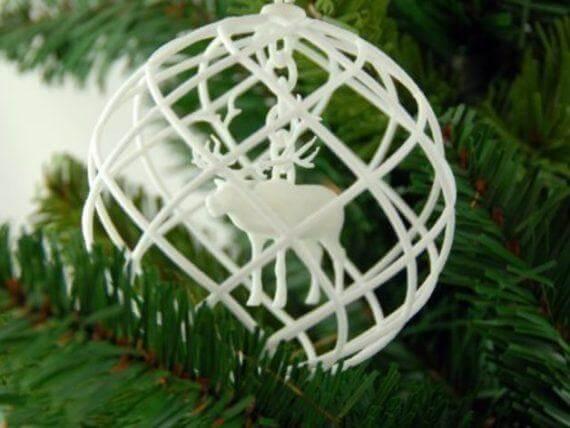 3d-modell christbaumanhänger rentier