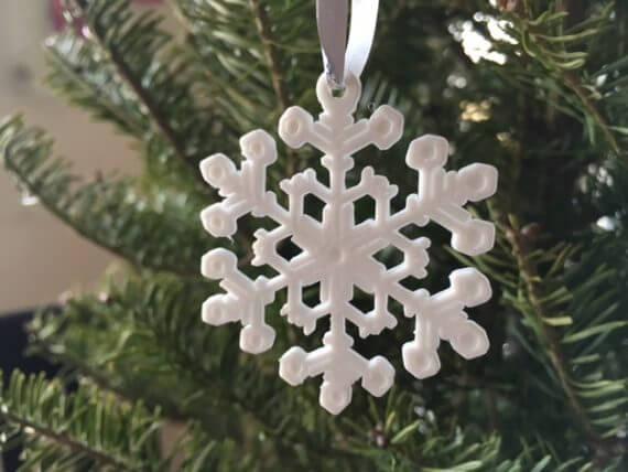 3d-modell christbaumanhänger schneeflocke