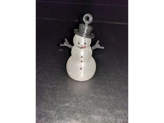 3d-modell christbaumkugel schneemann