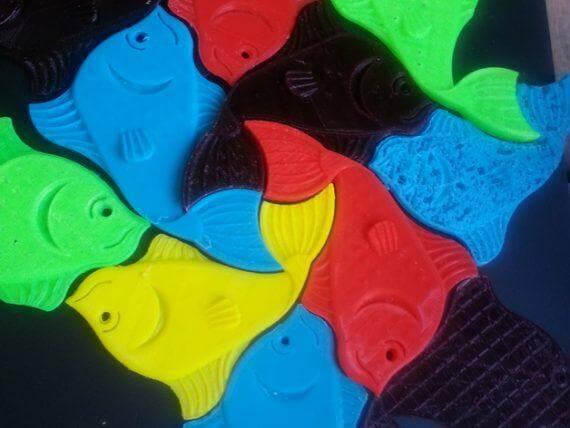 3d-modell escher fische