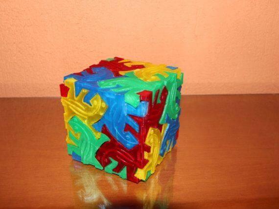 3d-modell escher kubus