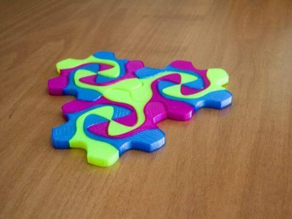 3d-modell escher mosaik