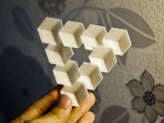 3d-modell escher penrose dreieck