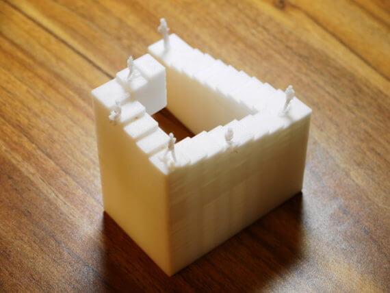 3d-modell escher penrose treppe