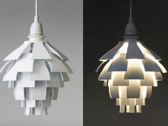3d-modell lampe artischocke