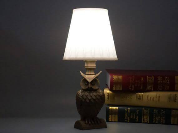 3d-modell lampe eule