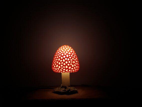 3d-modell lampe fliegenpilz 3d model lamp mushroom