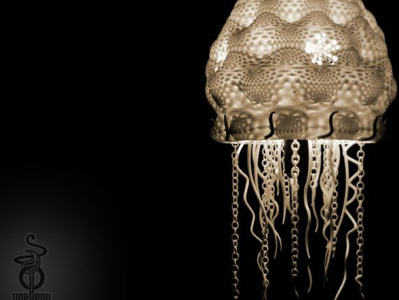 3d-modell lampe qualle 3d model jellyfish lamp
