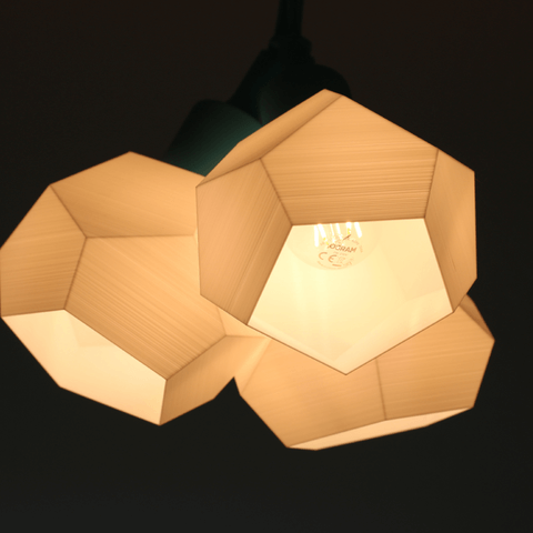 3d-modell lampe triple low poly 3d model lamp