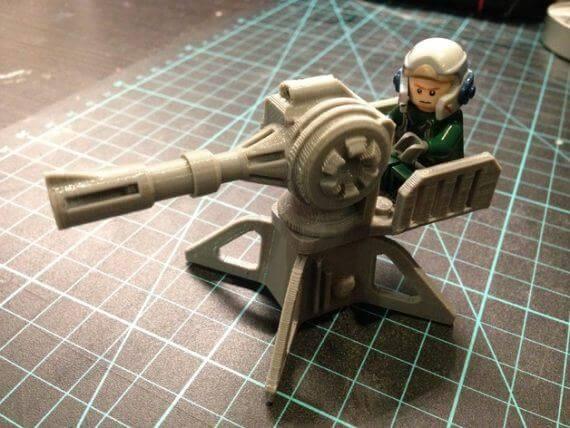 3d-modell lego blaster