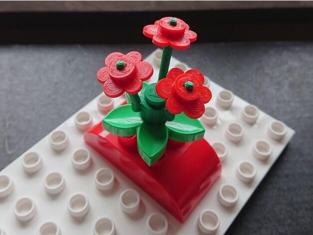 3d-modell lego flower