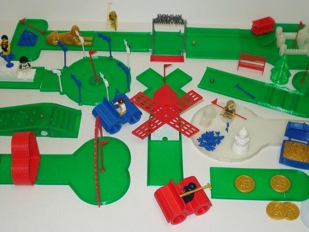 3d-modell lego golf