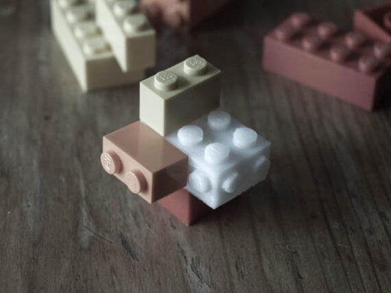 3d-modell lego brick