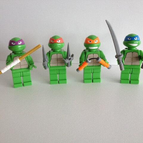 3d-modell lego ninja turtles