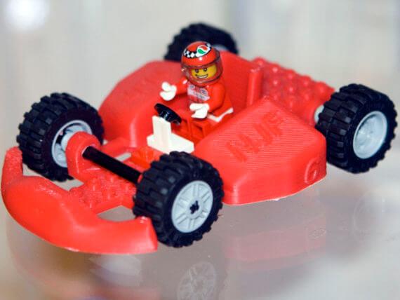 3d-modell lego racer