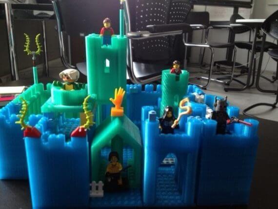 3d-modell lego castle