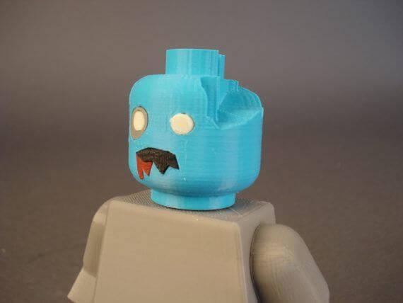 3d-modell lego zombie head