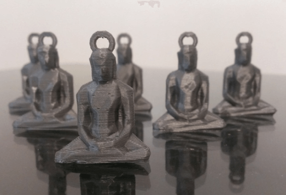 3d-modell low poly buddhas