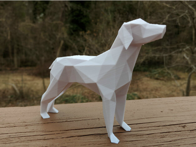 3d-modell low poly hund
