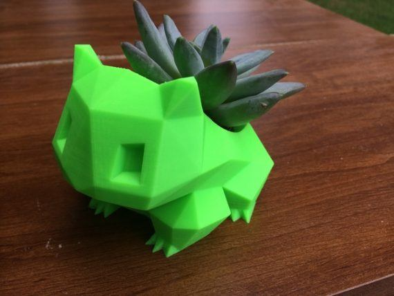 3d-modell low poly pokemon bulbasaur