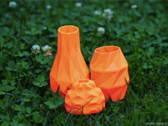 3d-modell low poly vase
