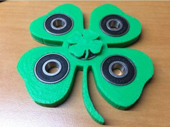 3d-modell spinner kleeblatt