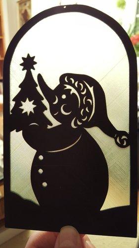 3d-modell weihnachtsdeko fensterbild