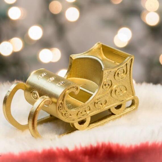 3d-modell weihnachtsdeko schlitten