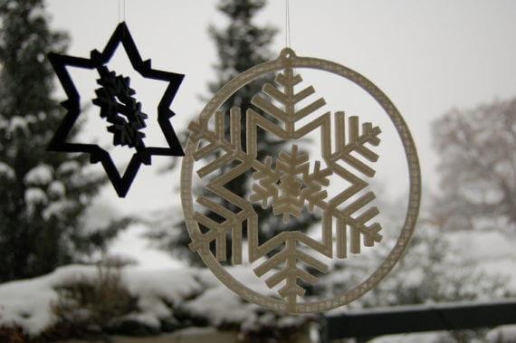 3d-modell weihnachtsdeko schneeflocke