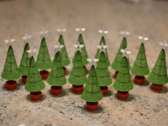 3d-modell weihnachtsdeko voronoi bäumchen