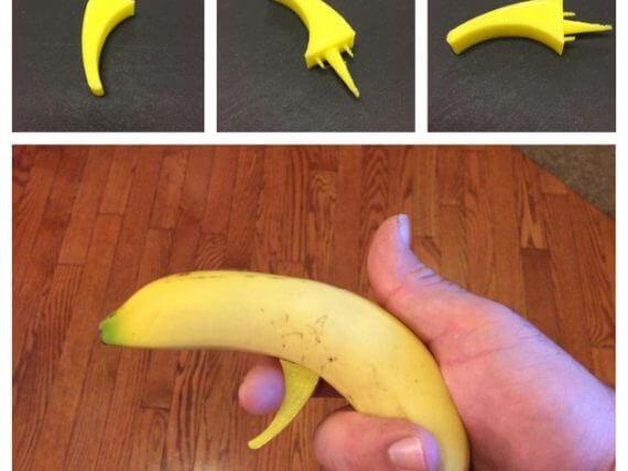 3d-modell bananen pistole 3d model banana pistol
