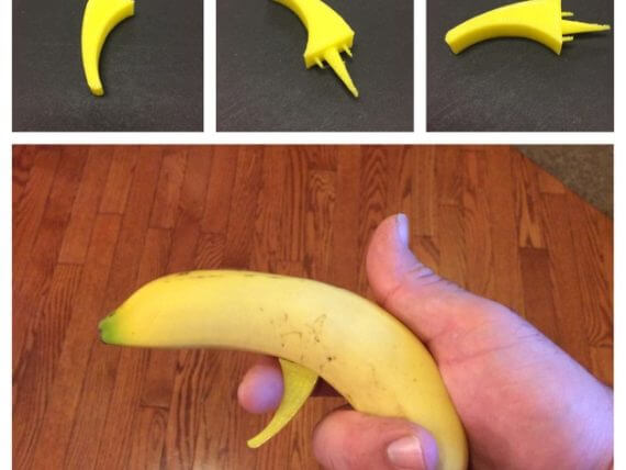3d-modell bananen pistole