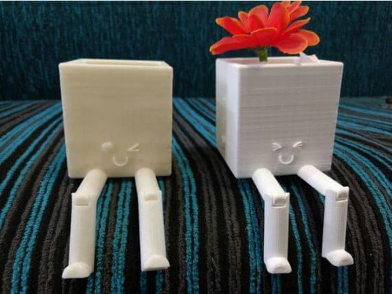 3d-modell blumenvase mit beinen 3d model flower pot