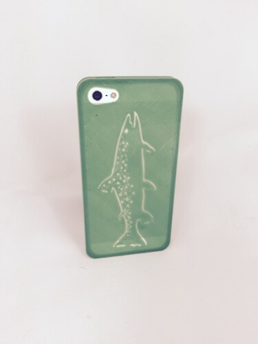 3d-modell iphone forelle 3d model trout