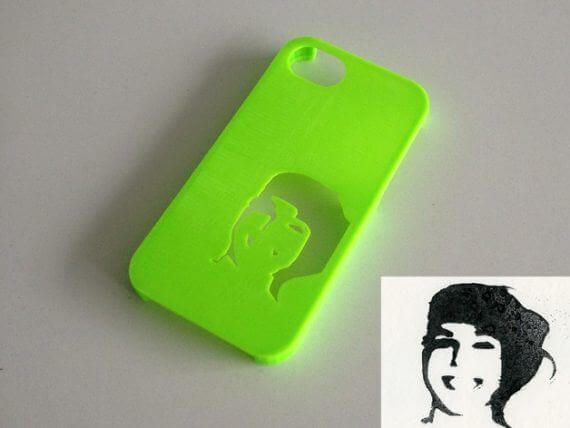 3d-modell iphone schablone 3d model stencil