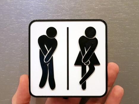 3d-modell toilettenschild 3d model toilet sign