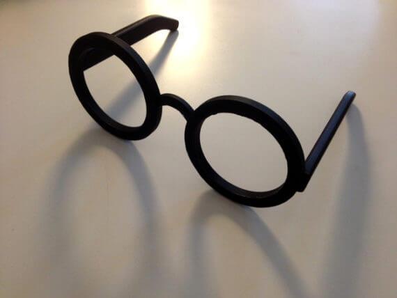3d-modell uebergrosse nerdbrille 3d model glasses