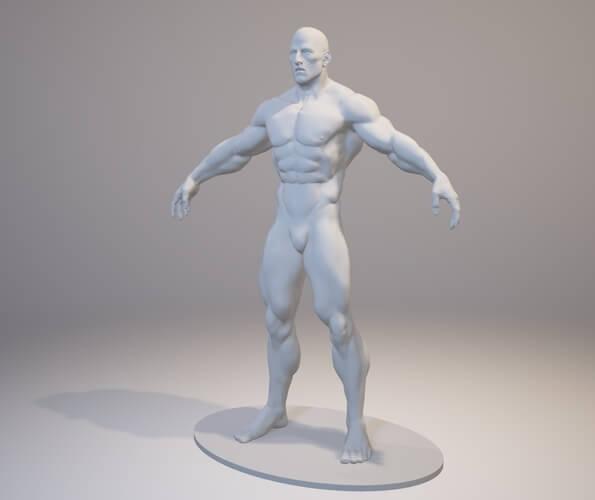 3d-modell bodybuilder