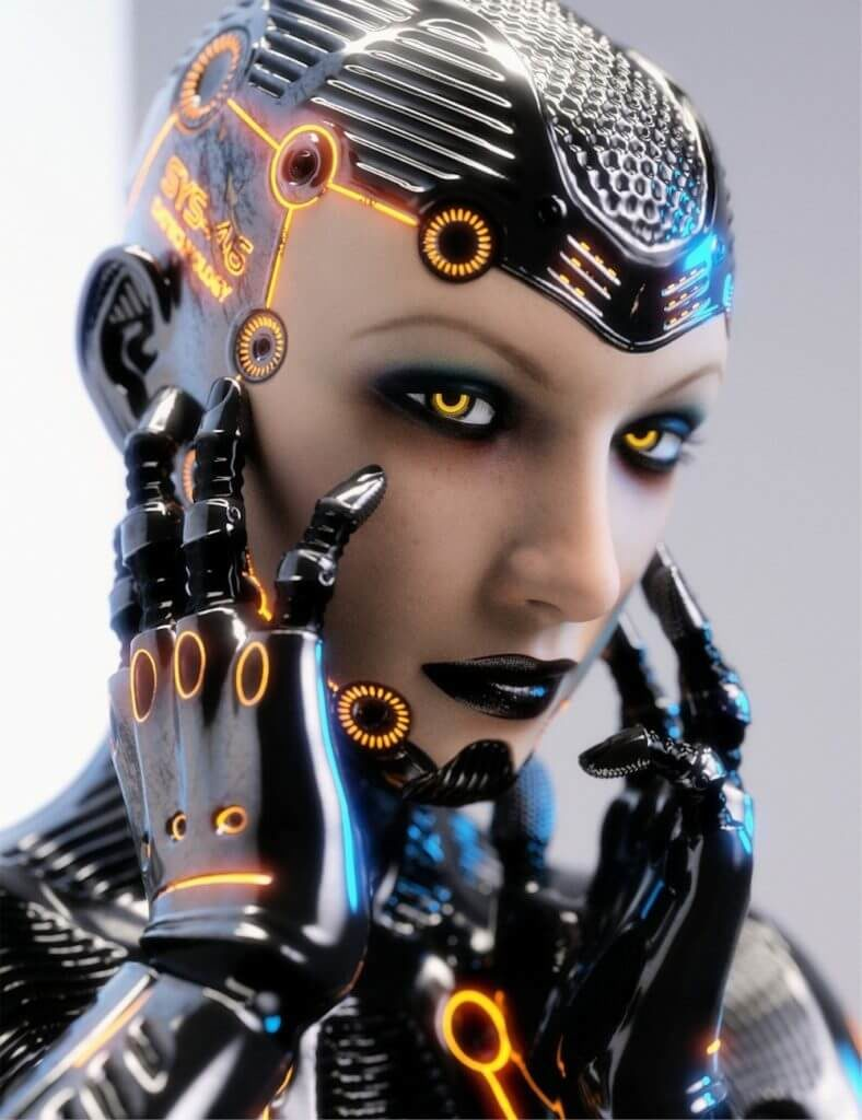 3d-modell daz3d cyborg 3d model